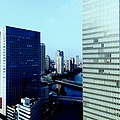 View towards Tokyo from upper floor of Yokohama Portside Roi Ichibankan Tower.jpg