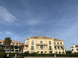 Villa Italia was the abode of the exiled King of Italy for forty years in Cascais. It is now used as a hotel. Villa Italia Cascais.jpg