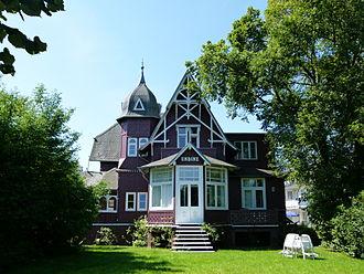 Prefabricated building - Villa Undine in Binz on German Rugia Island, built in 1885 by Wolgaster Holzbau.