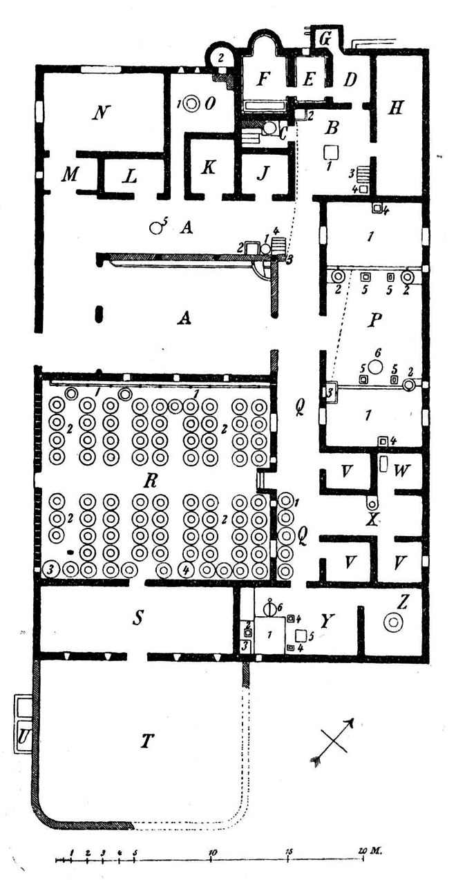 Plan de la villa de la pisanella à boscoreale