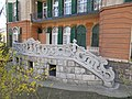 Villa with beautiful stone railing. - Budapest, XII. district. Csaba Street 22.JPG