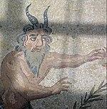 Satir, rimski mozaik