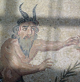 "Unclean spirit - The Hebrew se'irim, or ""hairy demon,"" is sometimes translated ""satyr,"" as depicted here in a Roman mosaic."