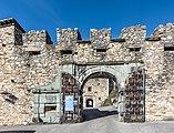 Villach Landskron Schlossbergweg 30 Burgruine S-Torbau mit Rustikaprofil 25102018 5157.jpg