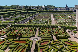History of gardening -   The renaissance style gardens at Chateau Villandry.