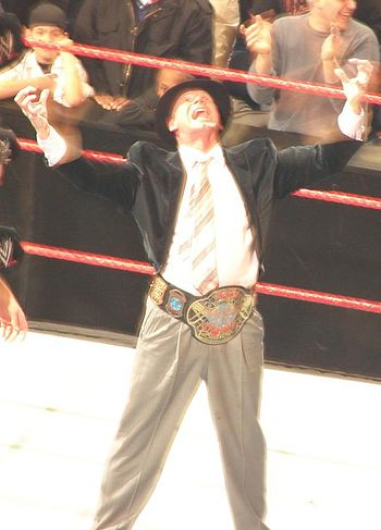 Vince as ECW champ