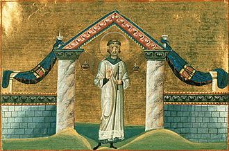 Vincent of Saragossa - St. Vincent of Saragossa (Menologion of Basil II, 10th century)