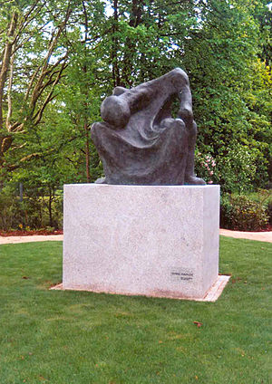 Vittore Bocchetta - Ohne Namen in the memorial site of the concentration camp, Hersbruck, Germany