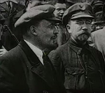 244304749a72d Lenin wearing his signature cap