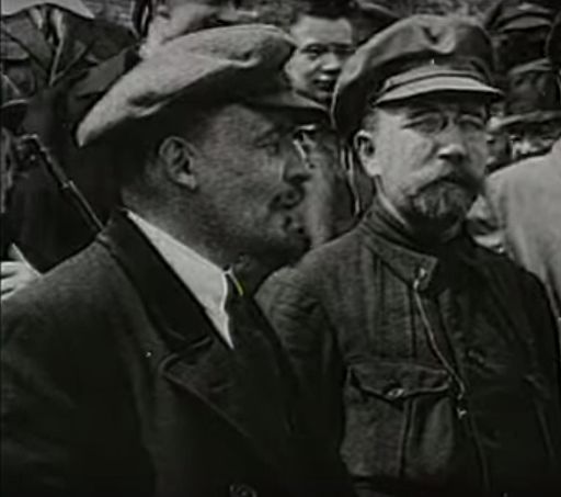 Vladimir Lenin and Lev Kamenev