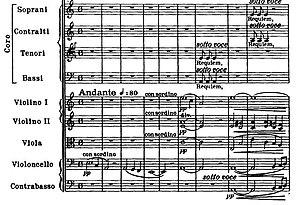 Requiem (Verdi) - Beginning of the introit