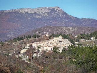 Aurel, Vaucluse - A general view of the village of Aurel