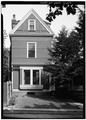 WEST FRONT, WINDOWS OF LIBRARY - Henry Van Brunt House, 167 Brattle Street, Cambridge, Middlesex County, MA HABS MASS,9-CAMB,65-2.tif