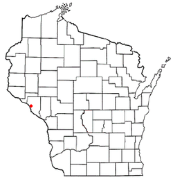 Location of Alma, Wisconsin
