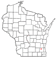 Location of Hartland, Waukesha County, Wisconsin