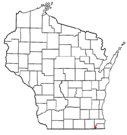 Location of Powers Lake, Wisconsin