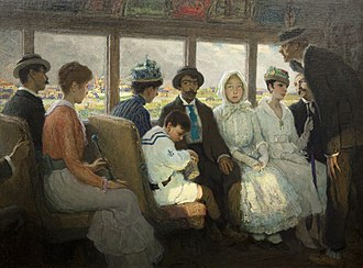 F. Luis Mora - Out of Town Trolley (1916)
