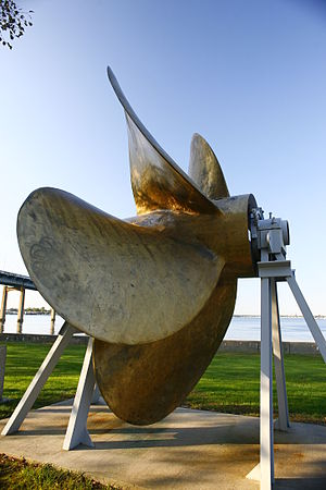 Fort Schuyler - Propeller of the S.S. United States