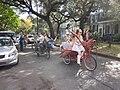 WWOZ 30th Birthday Parade Esplanade Avenue Art Bikes 2.JPG