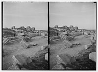 Wady Shaib Es-Salt, Amman, etc. Amman. Ruins on Acropolis Hill. Excavated by an Italian expedition. LOC matpc.02740.jpg