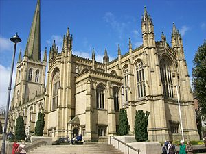 Anglican Diocese of Leeds - Image: Wakefield Cathedral from east