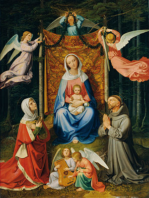 Joseph von Führich - Image: Waldesruh (Madonna with child, Saint Adelheid and Saint Francis) Joseph von Führich Google Cultural Institute