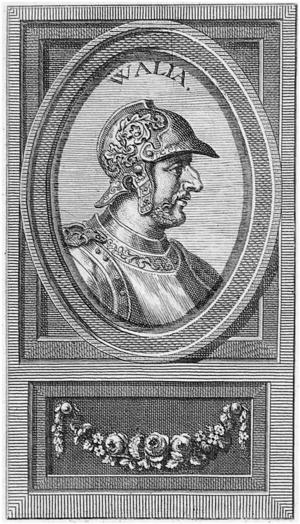 Wallia - Image: Walia rey visigodo