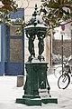Wallace fountain Rue Jeanne d'Arc-Rue Dumeril under snow 2013-03-12.jpg