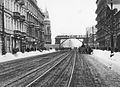 Warsaw Ghetto Footbridge viewed from the west 1942.jpg