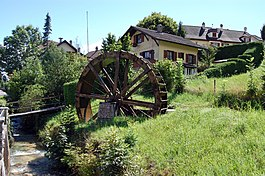 Oberdorf - Water wheel in Oberdorf village