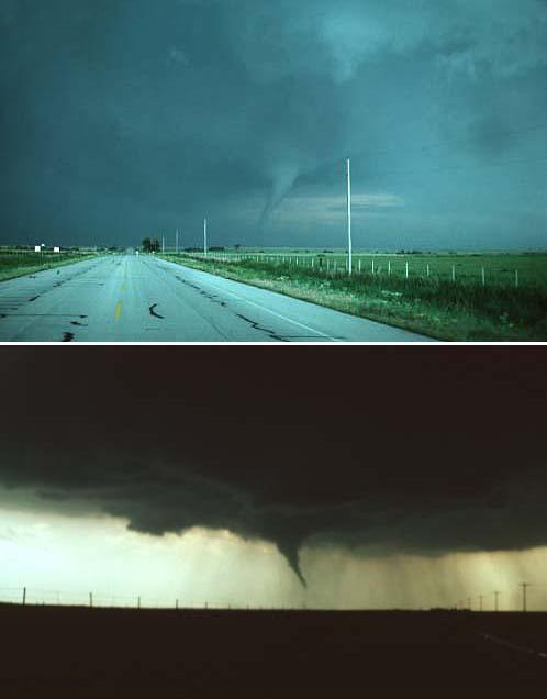 Waurika Oklahoma Tornado Back and Front