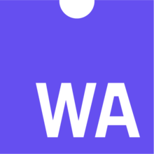 WebAssembly logo purple with the letters W and A