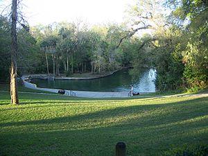Wekiva River - Wekiwa Springs, the source of Wekiva River