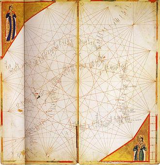 Pietro Vesconte - Image: West Mediterranean from Vesconte c.1321 (Lyon) atlas