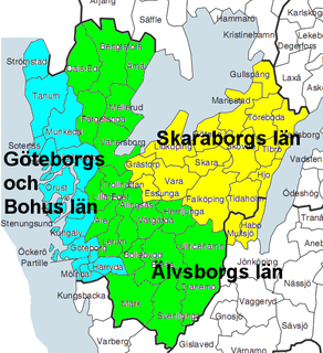 county in Sweden between 1634 and 1997
