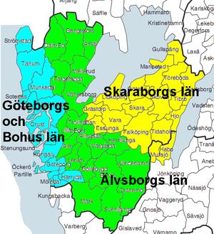 Skaraborg County - Image: Westgot oldprovinces