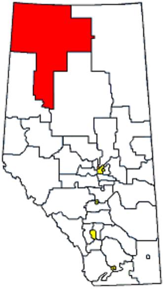 Peace River (provincial electoral district) - Image: Whereispeaceriver