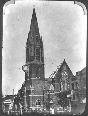 St Mary Matfelon - St Mary's Church, Whitechapel, after the fire in 1880
