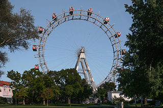Wiener Riesenrad Giant Ferris Wheel in Vienna