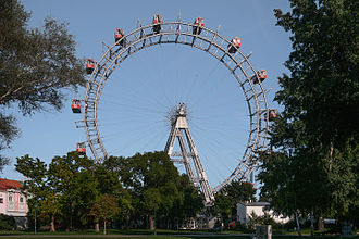 Wiener Riesenrad - The Riesenrad, seen from the outside of the Prater