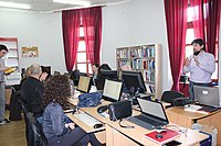 Wiki Librarian Editing Wikipedia workshop in Trebinje 09.jpg