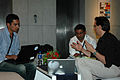 Wikimania 2009 - Chatting (9).jpg