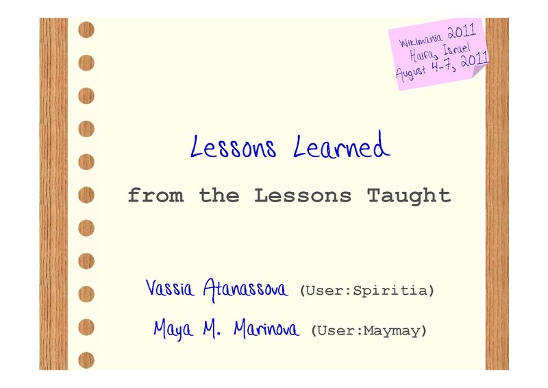 File:Wikimania 2011- Lessons Learned from the Lessons Taught - Atanassova, Marinova.pdf