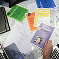 Wikipedia Education Program brochures at WINTR office.jpg