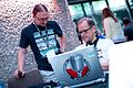 Wikiradio from Poland at the Wikimania 2014 Hackathon.jpg