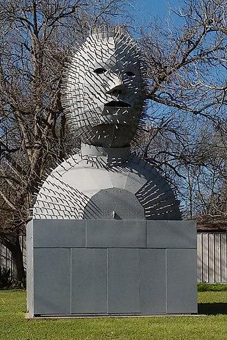Trinity, Texas - Image: Wildman Statue by Jim Robertson
