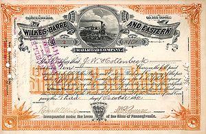Wilkes-Barre and Eastern Railroad - Image: Wilkes Barre & Eastern RR 1893