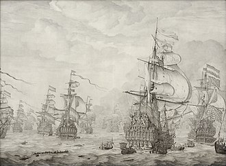 Marine art - Willem van de Velde the Elder's The Capture of the Royal Prince during the Four Days' Battle, 1666.