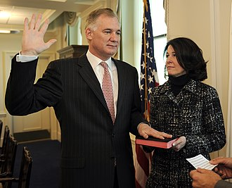 William J. Lynn III - Lynn being sworn in as Deputy Secretary of Defense, accompanied by his wife.