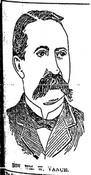 William Washington Vance - Sketch of Vance published in Baton Rouge, Louisiana, at the time of his death